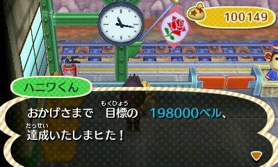 おかげさまで 目標の 198,000ベルに達成いたしまヒた!