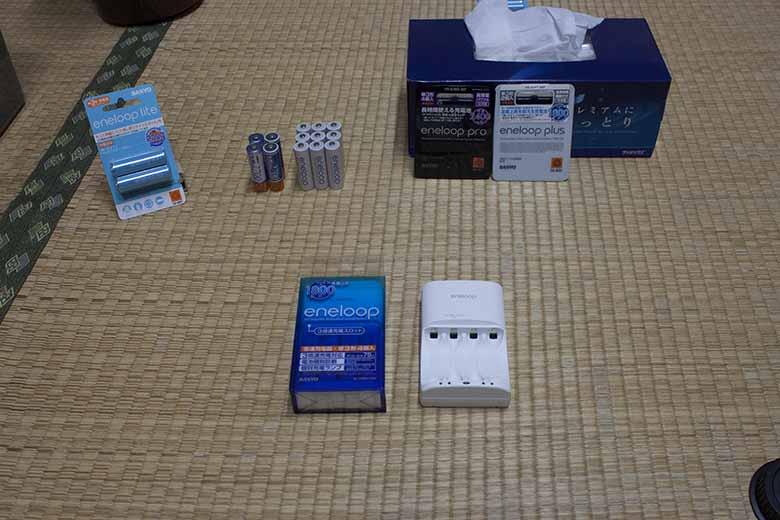 充電器、エネループ他三洋電機製充電池
