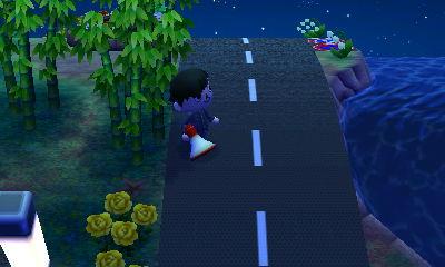 竹やぶ付近の道路