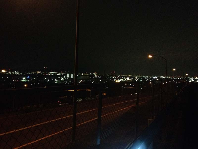 名神梶原トンネル付近の夜景