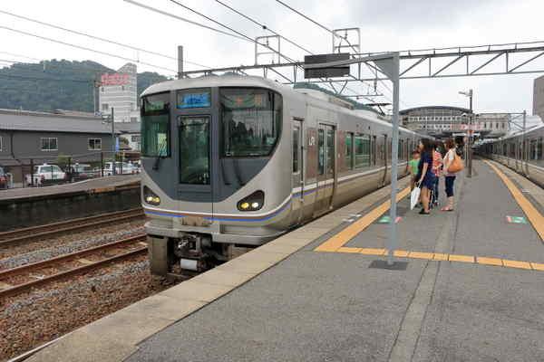 能登川駅で撮影
