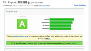 SSL診断の結果 ランクA