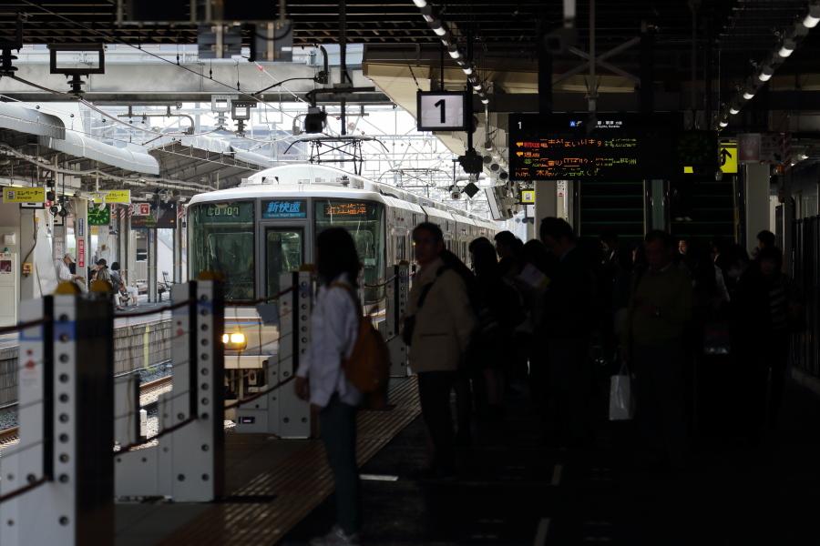高槻駅列車線ホーム
