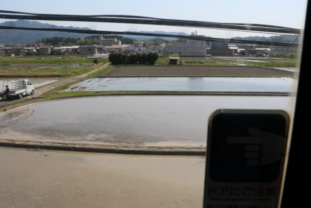 車窓から見た水田