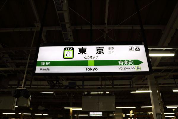 東京駅山手線駅名標
