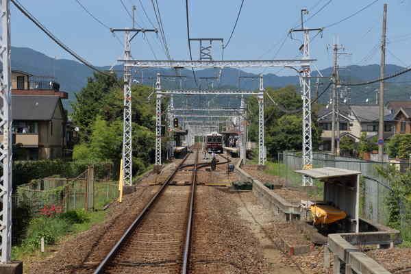 松尾大社駅付近