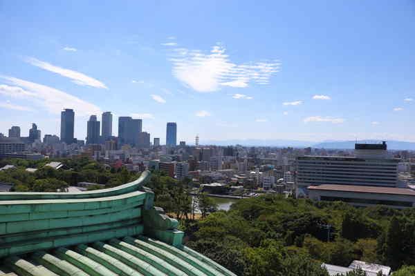 名古屋城天守閣の展望室から見える風景