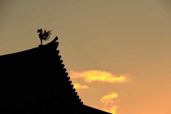 夕焼と鳳凰