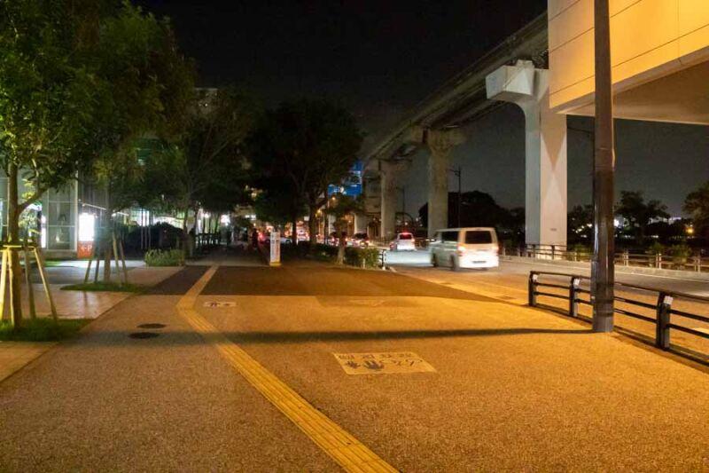 壺川駅付近の夜の風景