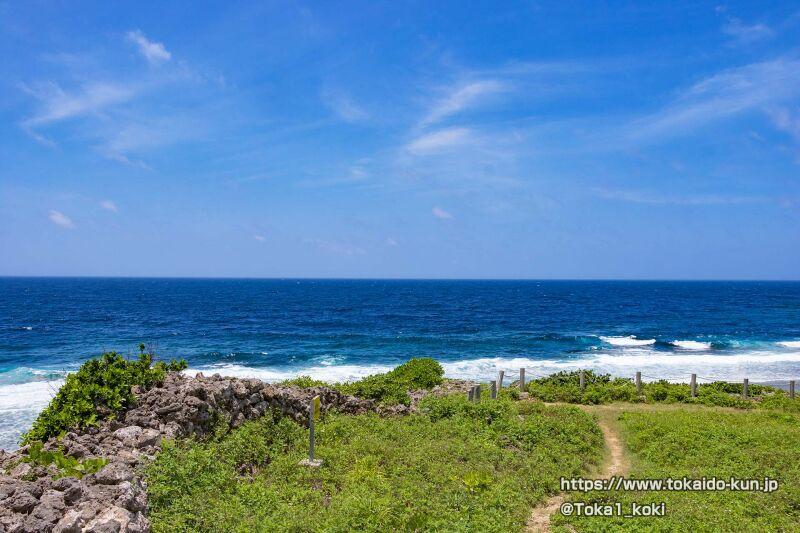 具志川城跡から見える東シナ海