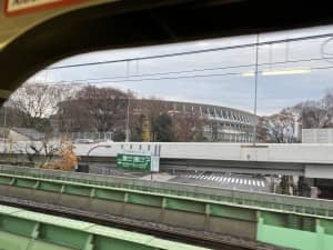 千駄ヶ谷駅近くにある国立競技場