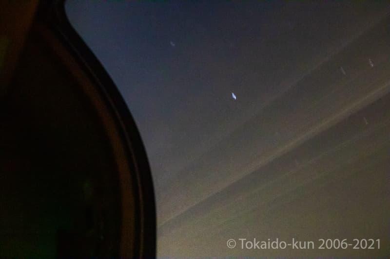 サンライズ車内から見える星空